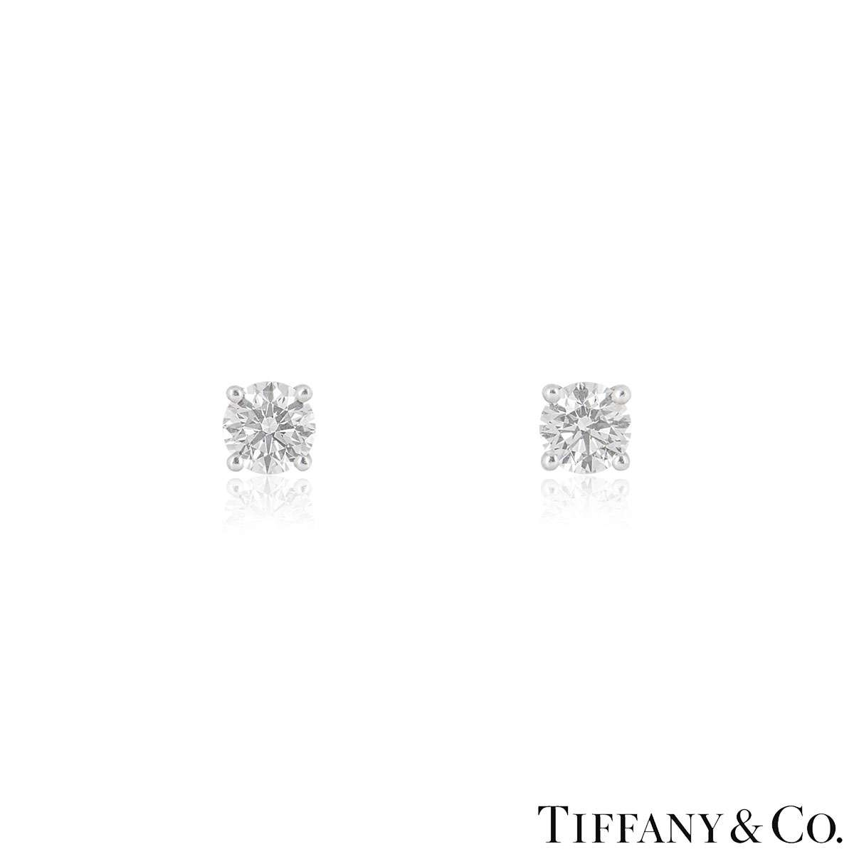 Tiffany & Co. Diamond Platinum Stud Earrings XXX 2.02ct TDW